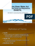 RA9275 Clean Water Act