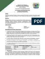 Specification 1st Sem Educ 309