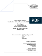 Clock Spring CS600 Quad Qualification Test Report