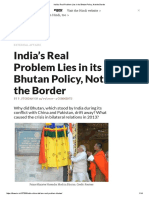 India's Real Problem Lies in Its Bhutan Policy, Not the Border