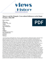Reviews in History - Muscovy and the Mongols Cross-cultural Influences on the Steppe Frontier 1304-1589 - 2012-03-08
