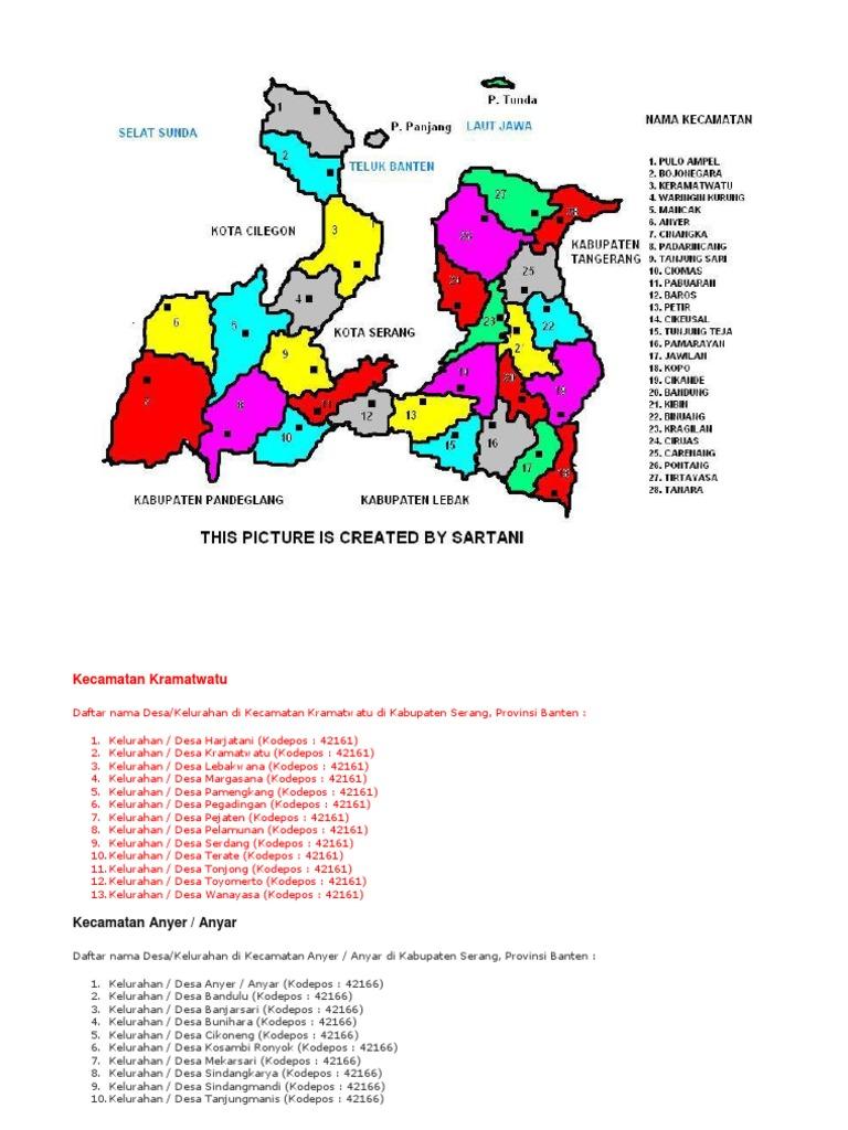 Peta Wilayah Kabupaten Serang