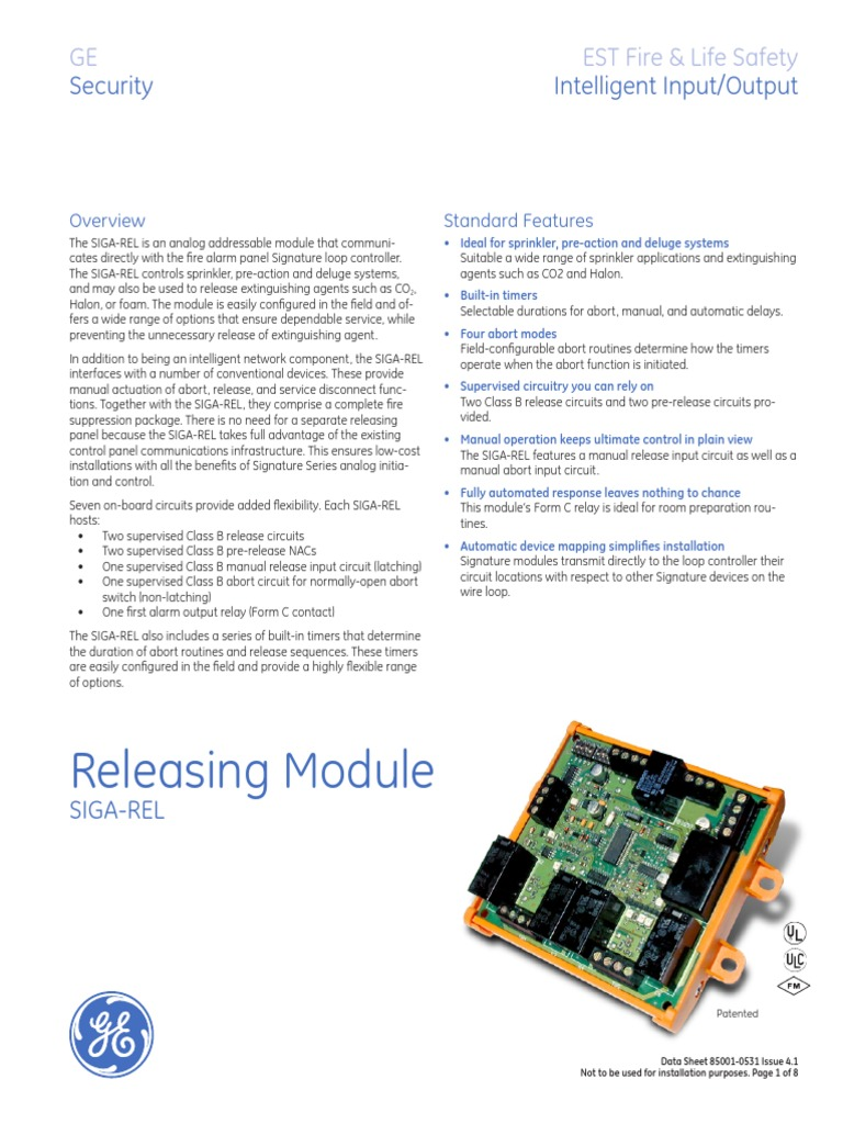 Releasing Module Fire Sprinkler System Relay End Of Line Resistors Eolr For Normally Open And Closed Circuits