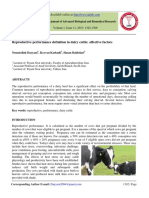 Reproductive Performance Definitionin Dairy Cattle Affective Factors