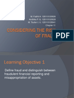 Considering the Risk of Fraud