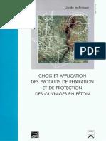 Choix et application des produits de réparation et de protection des ouvrages en béton - Guide technique .pdf