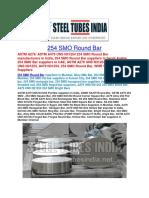 254 SMO Round Bar