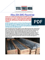 Alloy 254 SMO Round Bar