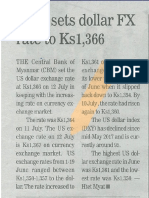 [GNLM-13.7.2017] CBM Sets Dollar FX Rate to Ks1,366