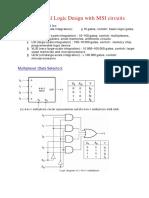 Logic Design Using MSI