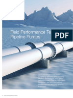 Pipeline Pump Testing