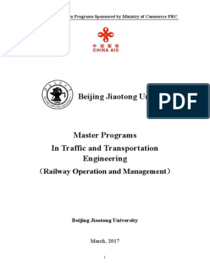 Beijing Jiaotong University: Railway Operation and Management)