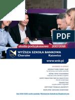 Informator 2017 - Studia Podyplomowe - Wyższa Szkoła Bankowa w Chorzowie