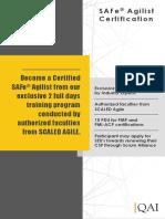 SAFe Agilist Course Catalogue