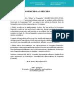 Comunicado Reforma - Reforma Estatuária