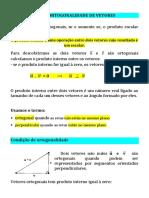 Ortogonalidade Distancia Entre Pontos