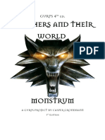 GURPS Witchers and Their World - Monstrum