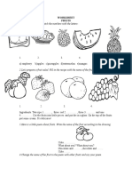 Fruits Worksheet 3