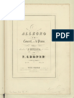 F. Chopin - Op. 46 - Allegro Di Concert - Piano (First Edition)