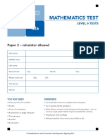 Ks2 Mathematics 2011 Level 6 Test b