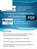 Crew Training for LNG Fueled Vessels