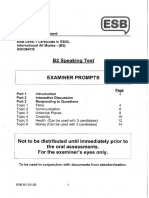 b2 Speaking Test Examiner Prompts Sample