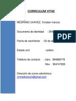 Curriculo Medrano Chavez Mecanica