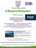 A Round to Remember Golf Tournament Signup/Info