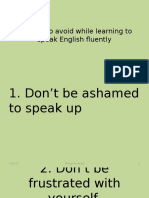 5 Things to Avoid While Learning to Speak