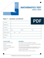 Ks2 Mathematics 2011 Level 6 Test A