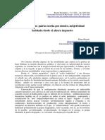 Juan Gelman, Patria Escrita Por Dentro, Subjetividad Habitada Desde El Afuera Impuesto