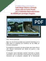 Demadado Hugo Chávez ante la CPI
