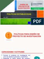 2-Politicas Para Diseño de Proy de Inv