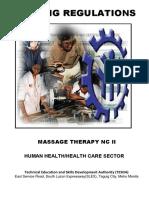 TR Massage Therapy NC II