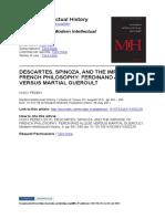 PEDEN, KNOX -- DESCARTES, SPINOZA, AND THE IMPASSE OF FRENCH PHILOSOPHY- FERDINAND ALQUIÉ VERSUS MARTIAL GUEROULT