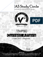 TNPSC Current Affairs English June 2017 Vetrii IAS Academy
