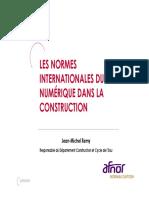 LES NORMES INTERNATIONALES DU NUMÉRIQUE DANS LA CONSTRUCTION