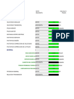 Excel - Fajas Transmision Plana - V - Cadena