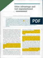 Competitive Advantage and Internal Organizational Assessment[5316]