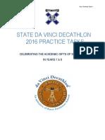 Knox+dav+Vinci+State+2016+Practice+Tasks+years+7+&+8