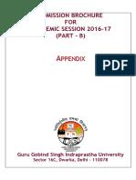 Admission Brochure (Part - B) - Appendices.pdf