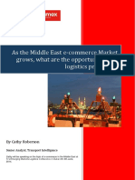 As the Middle East e Commerce Market Grows What Are the Opportunities for Logistics Providers