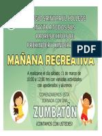 Afiche Actividad Convivencia Escolar 11-03