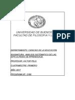 Programa Analisis sitematico de la dificultades de aprendizaje 1 2017Prof_ Feld.doc