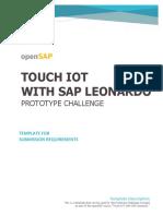 OpenSAP Iot3 PrototypeChallenge Template