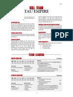Kill Team Army List - Tau Empire v3.3.1