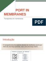 Transportes em membranas