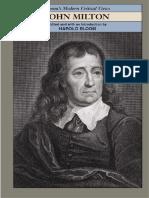 [Harold Bloom] John Milton