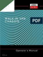 Walk-In Van Chassis Operator's Manual