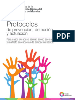 Protocolos de Prevención, Detección y Actuación Para Casos de Abuso Sexual, Acoso Escolar y Maltrato en Escuelas de Educación Básica
